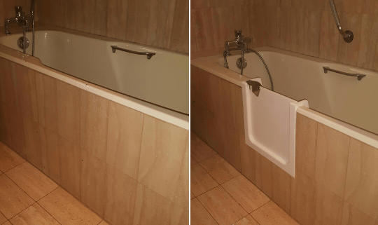 baignoire avec porte cheap la baignoire douche en est. Black Bedroom Furniture Sets. Home Design Ideas