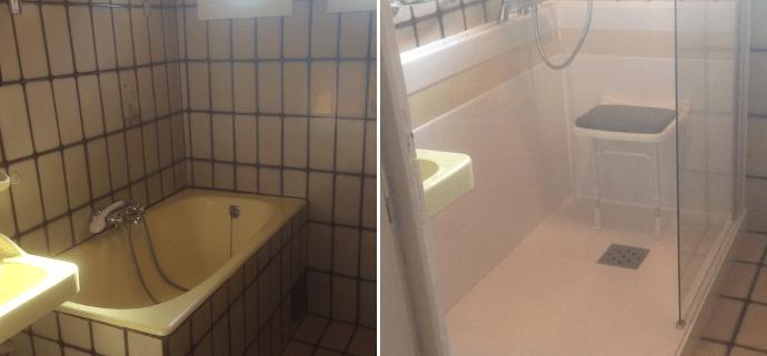 transformer une baignoire en douche free images dualbums photos cot baignoire en douche cot. Black Bedroom Furniture Sets. Home Design Ideas