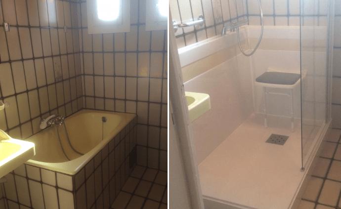 transformer baignoire en douche excellent awesome transformer sa baignoire en douche italienne. Black Bedroom Furniture Sets. Home Design Ideas