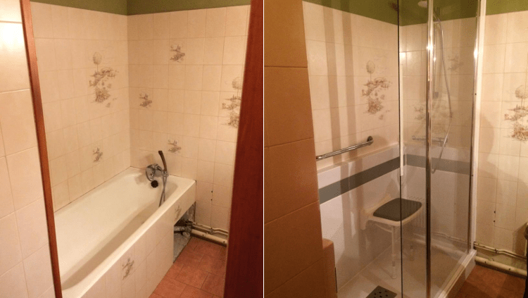 transformation baignoire en bac douche archives renovbain paris idf. Black Bedroom Furniture Sets. Home Design Ideas