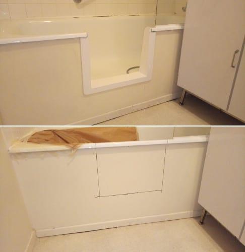 ouverture laterale de baignoire a paris renovbain paris idf. Black Bedroom Furniture Sets. Home Design Ideas