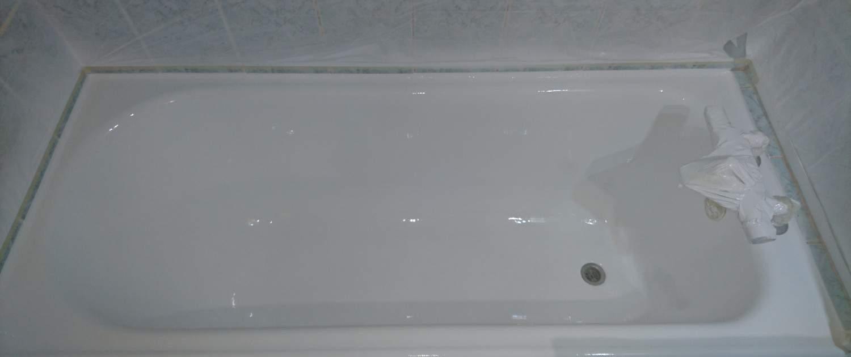 résultat une fois la baignoire rénovée