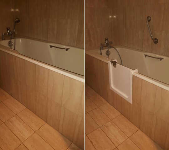 ouverture laterale de baignoire avec porte etanche. Black Bedroom Furniture Sets. Home Design Ideas