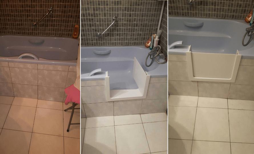 ouverture laterale de baignoire avec portillon anti eclaboussures renovbain paris idf. Black Bedroom Furniture Sets. Home Design Ideas