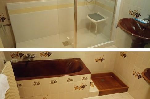 Remplacement de la baignoire en bac douche en juillet 2018 renovbain paris idf - Remplacer bac de douche ...